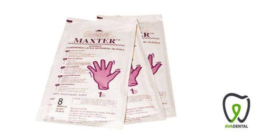 دستکش جراحی مکستر Maxter کم پودر